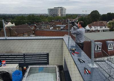 Installing Pigeon Netteing